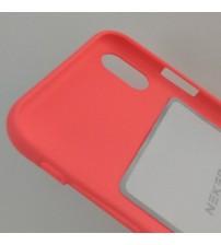 Силиконов калъф за iPhone X гръб корал Lux