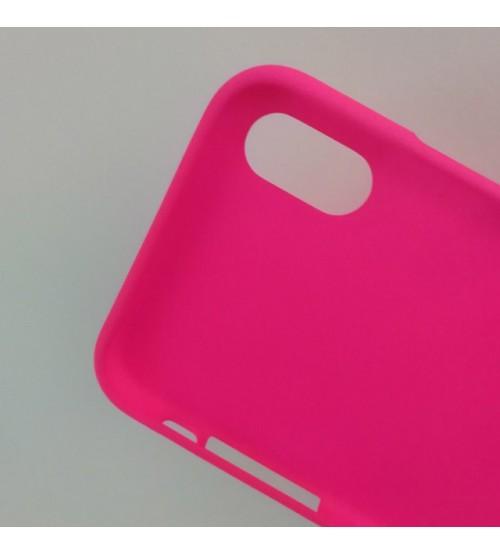 Силиконов калъф за iPhone X гръб розов Lux
