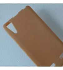 Силиконов калъф за Lenovo A6000 / A6010 гръб светло кафяв