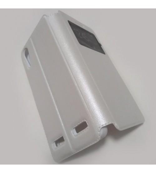 Калъф за Lenovo A6000 / A6010 флип тефтер Book бял