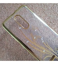 Силиконов калъф за Lenovo K6 прозрачен с кристали