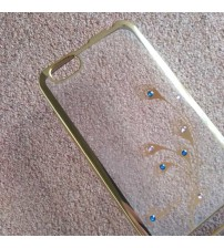 Силиконов калъф за Lenovo Vibe C A2020 прозрачен с кристали