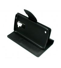 Калъф за LG K8 страничен тефтер Fancy Book черен