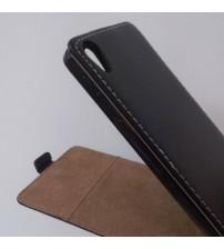 Калъф за Sony Xperia M4 Aqua флип тефтер черен Flexi