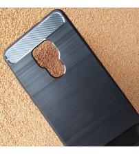 Калъф за Huawei Mate 20 силиконов кейс черен карбон