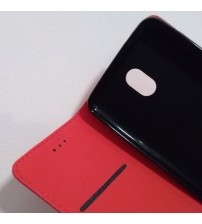 Калъф за Nokia 2 страничен флип тефтер червен
