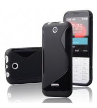 Калъф за Nokia 225 силиконов гръб черен s-line