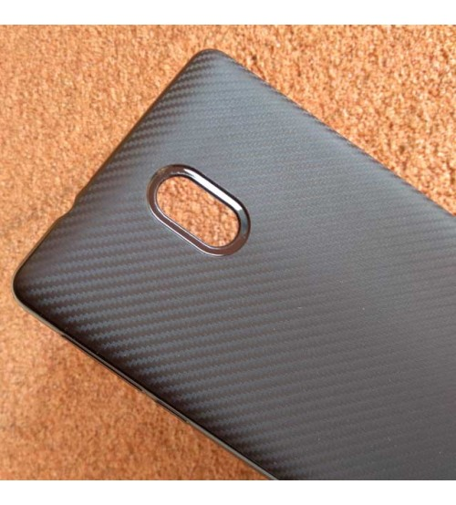 Силиконов калъф за Nokia 3 гръб черен карбон