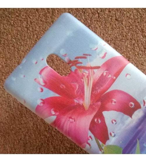 Силиконов калъф за Nokia 3 гръб червено цвете