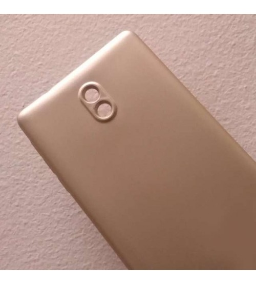 Силиконов калъф за Nokia 3 златен гръб Lux