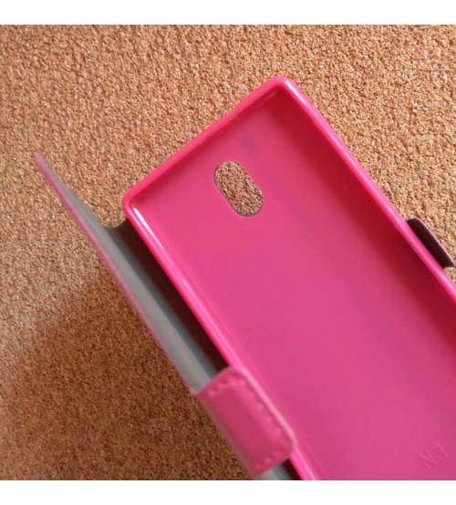 Калъф тефтер за Nokia 3 розов Book Pocket