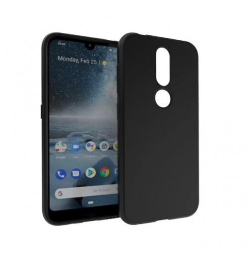Калъф за Nokia 4.2 силиконов гръб черен мат