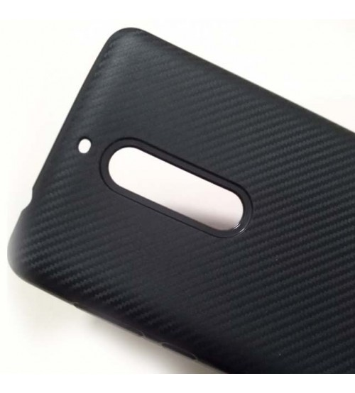 Силиконов калъф за Nokia 5 гръб черен карбон