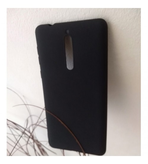 Силиконов калъф за Nokia 8 черен гръб Lux