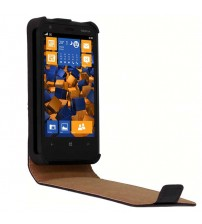 Калъф за Nokia Lumia 620 флип тефтер черен