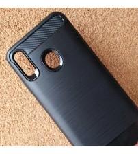 Силиконов калъф за Huawei P Smart 2019 гръб черен карбон Lux