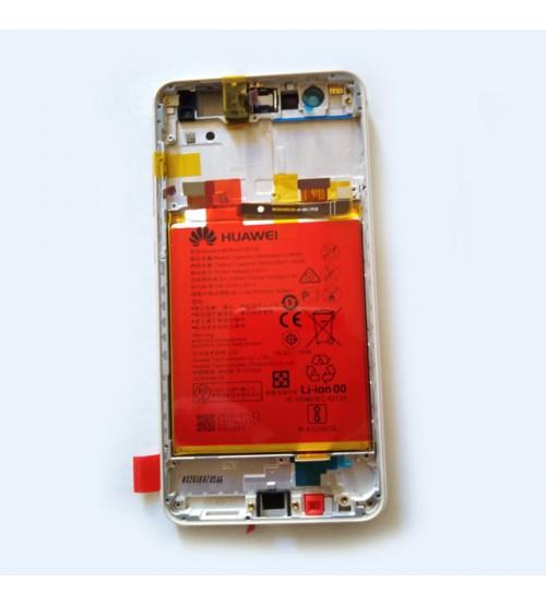 Дисплей с тъч + рамка и батерия за Huawei P10 Lite златен
