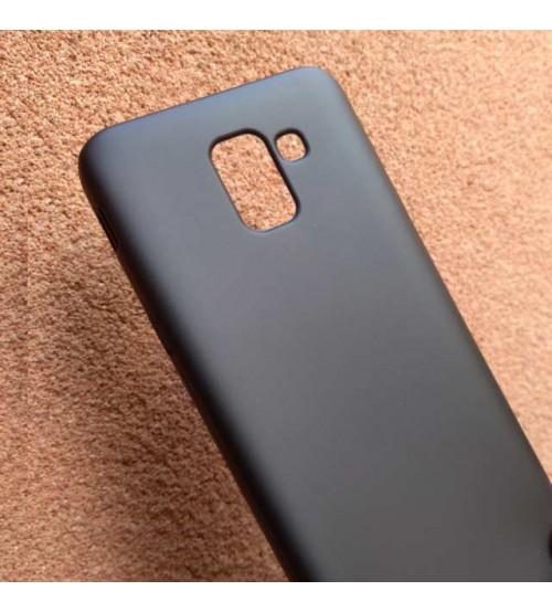 Силиконов калъф за Samsung S9 Plus черен гръб Lux