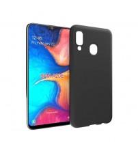 Калъф за Samsung A20e A202F силиконов гръб черен мат