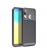 Калъф за Samsung A20e A202F силиконов гръб черен Plaid