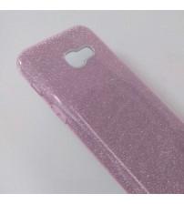 Калъф за Samsung A3 2017 силиконов гръб розов брокат