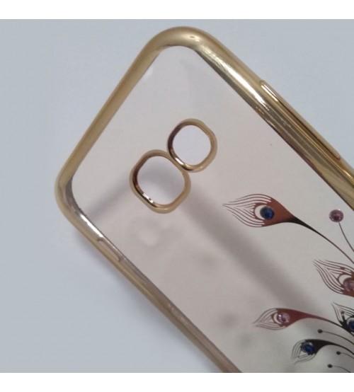 Силиконов калъф за Samsung A3 2017 прозрачен с кристали