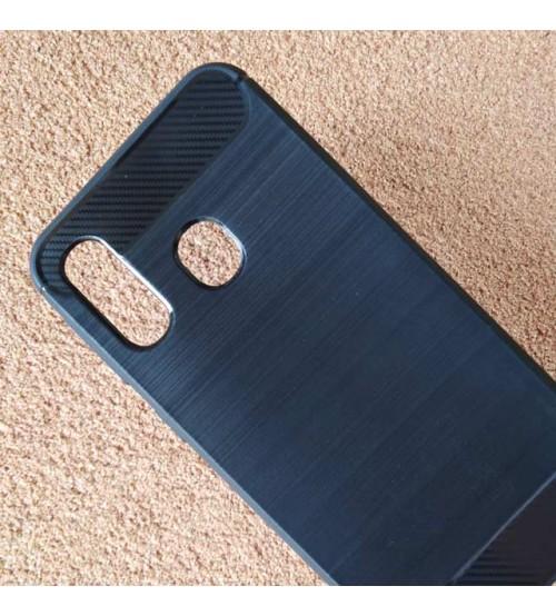 Калъф за Samsung A40 A405 силиконов гръб карбон черен