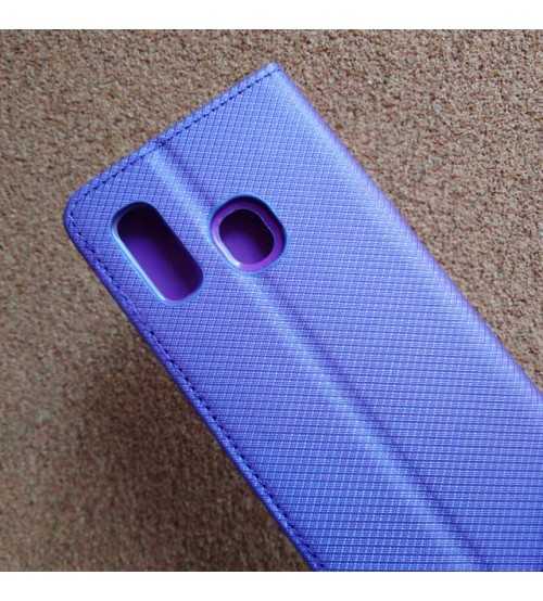 Калъф за Samsung A40 A405 тефтер тип книга Magnet лилав