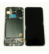 Дисплей с тъч скрийн и стъкло за Samsung A40 A405F черен