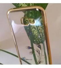 Силиконов калъф за Samsung A5 2017 прозрачен пауново перо