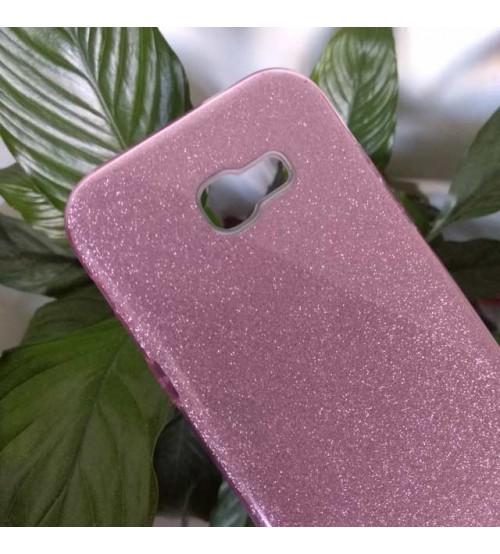 Калъф за Samsung A5 2017 силиконов гръб розов брокат