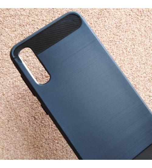 Калъф за Samsung A50 A505 силиконов гръб карбон черен