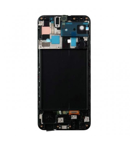 Дисплей с тъч скрийн и стъкло за Samsung A50 A505F черен