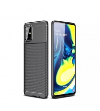 Калъф за Samsung A71 A715 силиконов гръб Plaid черен