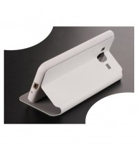 Калъф за Samsung Grand Prime G530 флип тефтер бял Fib Color