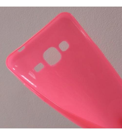 Силиконов калъф за Samsung J3 2016 гръб розов Candy