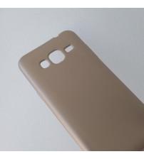 Силиконов калъф за Samsung J3 2016 гръб златен Lux