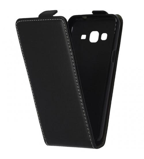 Калъф тефтер за Samsung J3 2016 J320 черен flexi