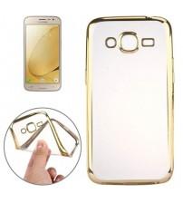 Силиконов калъф за Samsung J3 2016 със златен кант