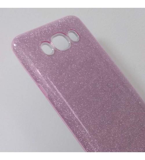 Калъф за Samsung J5 2016 силиконов гръб розов брокат