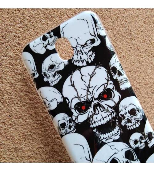 Калъф за Samsung J7 2017 силиконов гръб Skull
