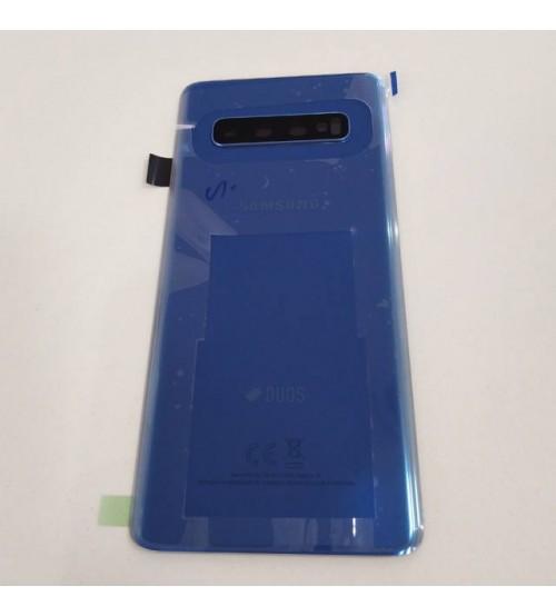 Заден капак за Samsung Galaxy S10 G973f DS син