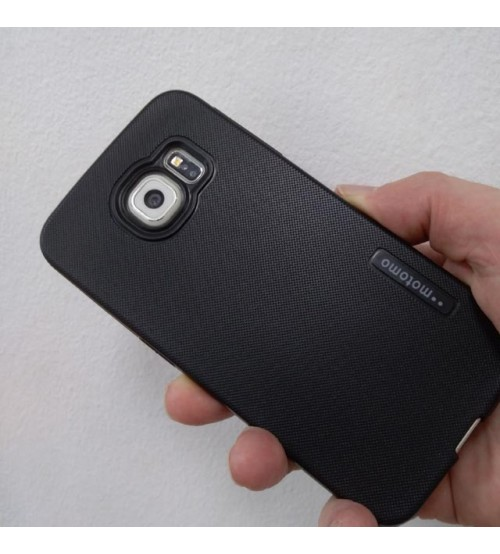 Силиконов калъф за Samsung S6 Edge черен гръб Grid