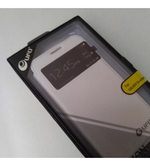 Калъф за Samsung S6 Edge G925 флип тефтер бял страничен