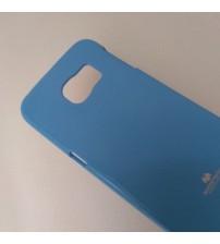 Калъф за Samsung S6 Edge G925 силиконов гръб син Lux