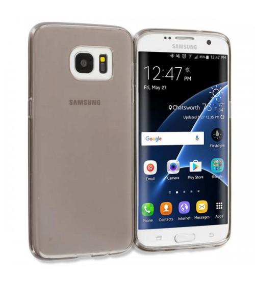 Силиконов калъф за Samsung S7 Edge G935 гръб smoked