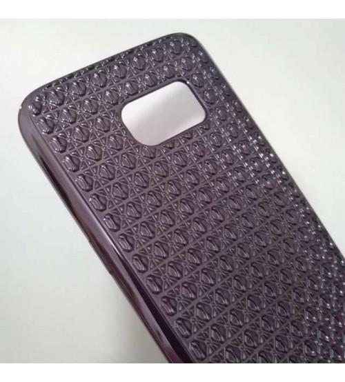 Калъф за Samsung S7 G930 силиконов гръб графит Grid