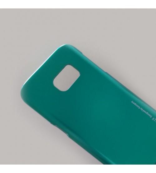 Калъф за Samsung S7 G930 силиконов гръб зелен луксозен