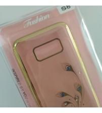 Силиконов калъф за Samsung S8 G950 прозрачен с кристали