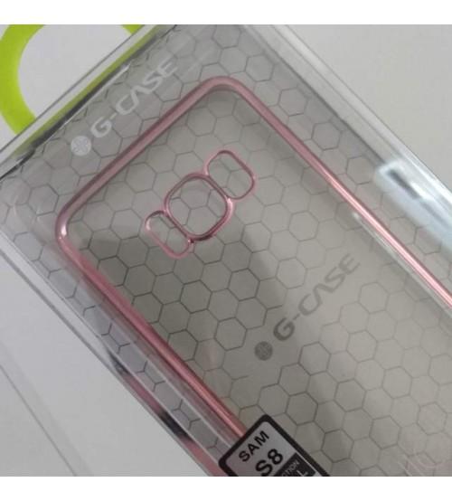 Силиконов калъф за Samsung S8 G950 прозрачен Rose Gold